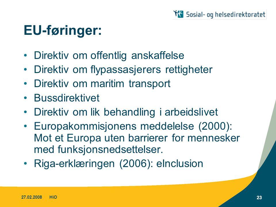 EU-føringer: Direktiv om offentlig anskaffelse