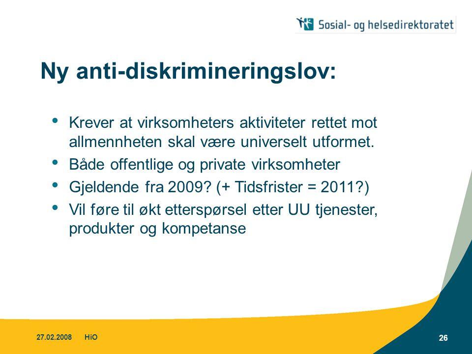 Ny anti-diskrimineringslov: