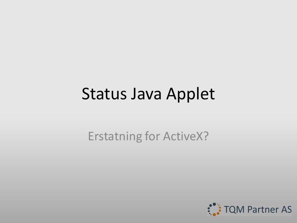 Erstatning for ActiveX