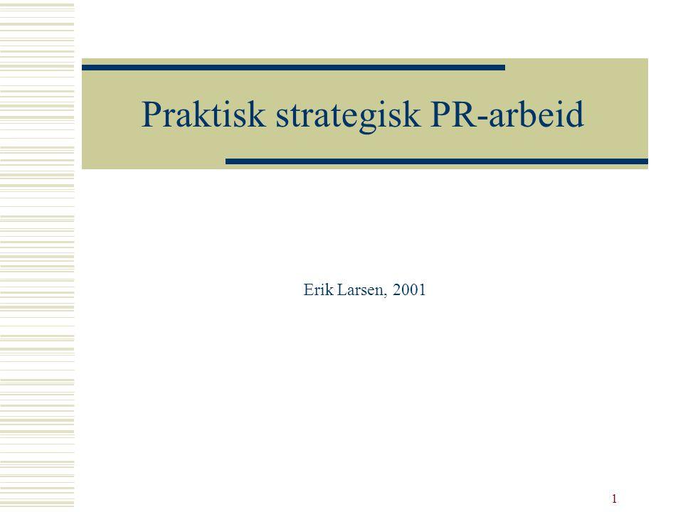 Praktisk strategisk PR-arbeid