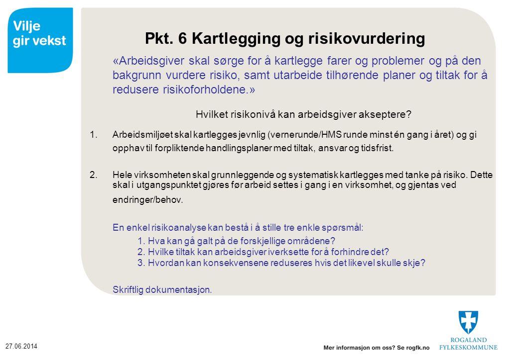 Pkt. 6 Kartlegging og risikovurdering
