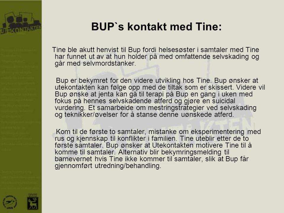BUP`s kontakt med Tine: