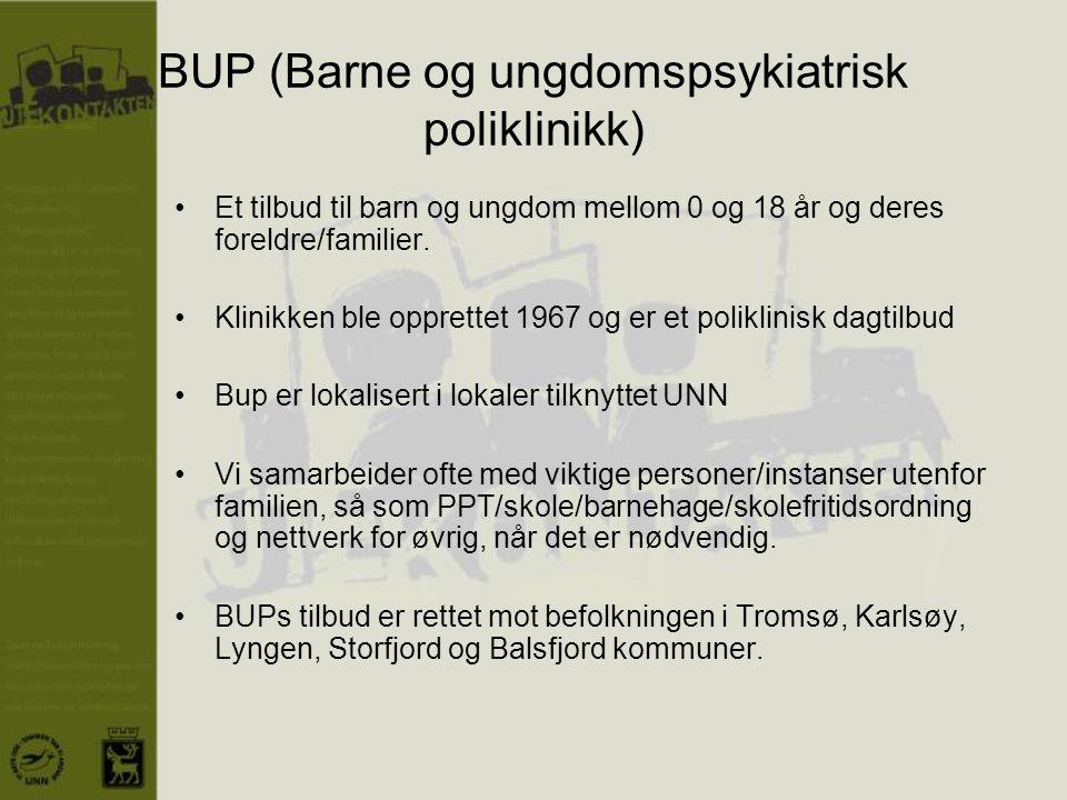 BUP (Barne og ungdomspsykiatrisk poliklinikk)