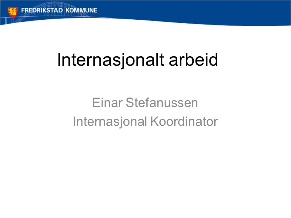 Internasjonalt arbeid
