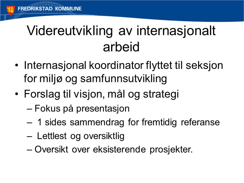 Videreutvikling av internasjonalt arbeid