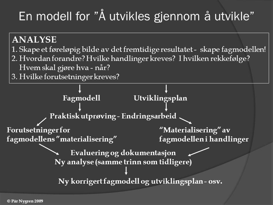 En modell for Å utvikles gjennom å utvikle
