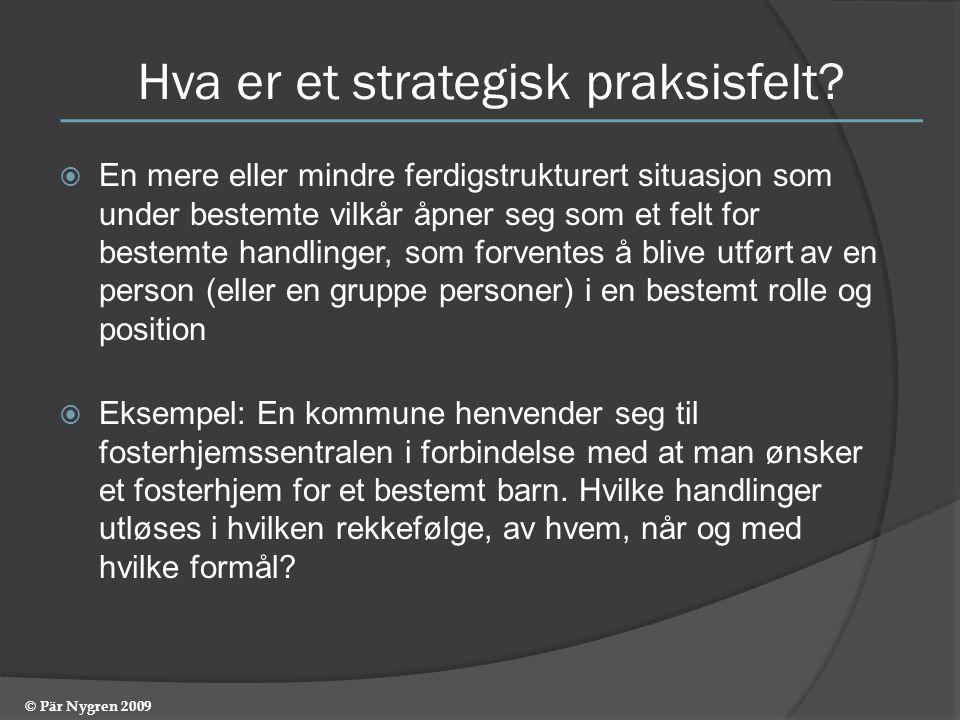Hva er et strategisk praksisfelt