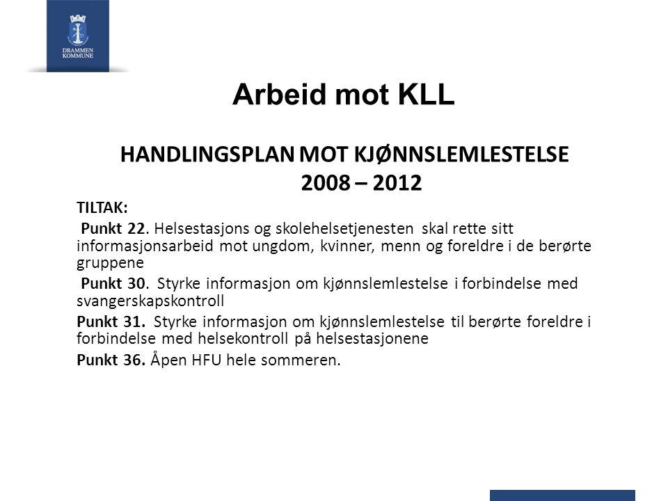 HANDLINGSPLAN MOT KJØNNSLEMLESTELSE