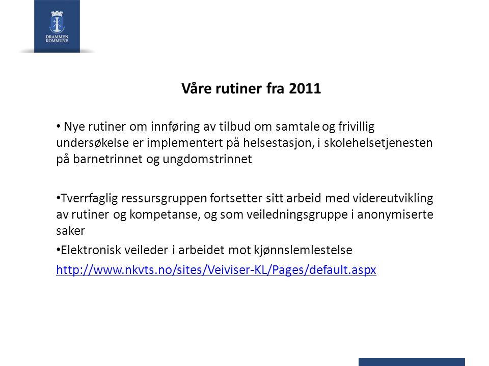 Våre rutiner fra 2011