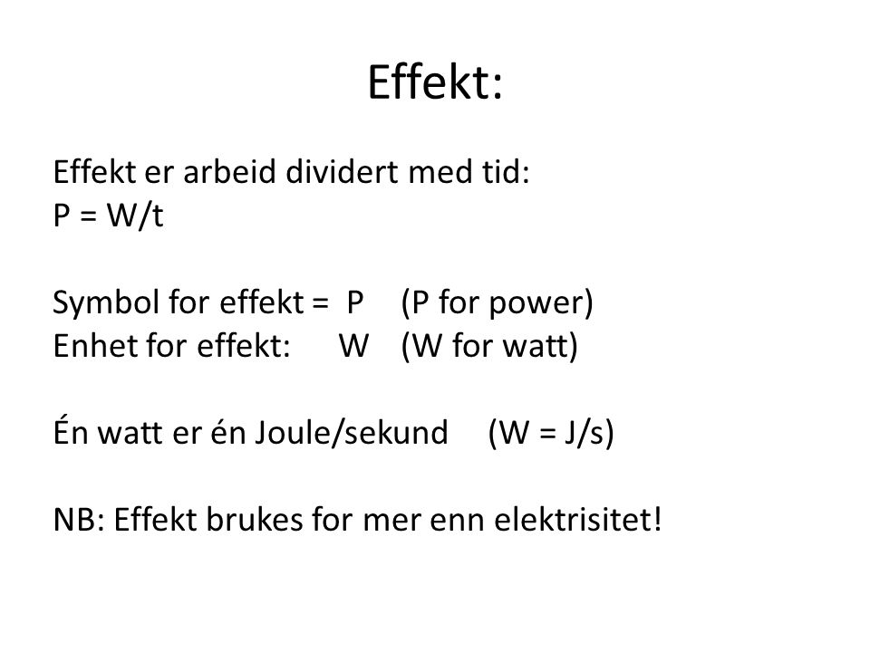 Effekt: