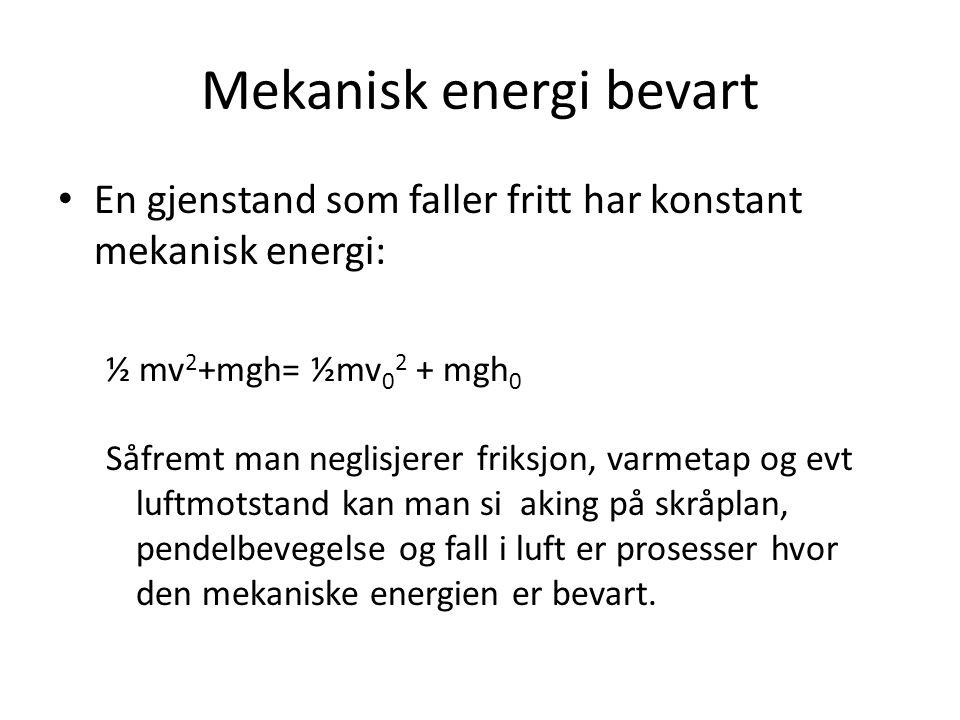 Mekanisk energi bevart