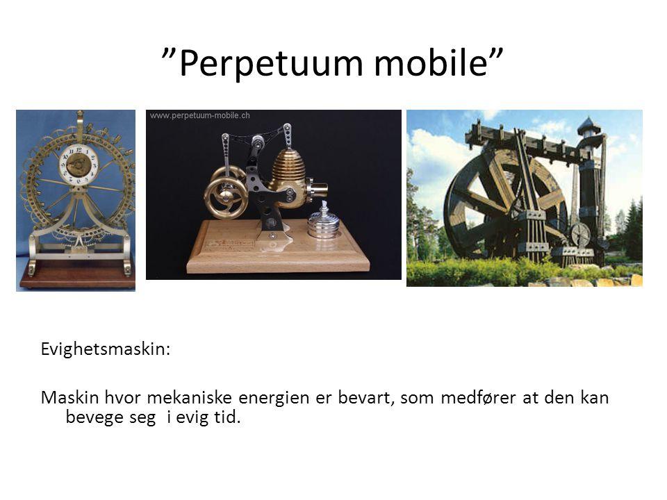 Perpetuum mobile Evighetsmaskin: