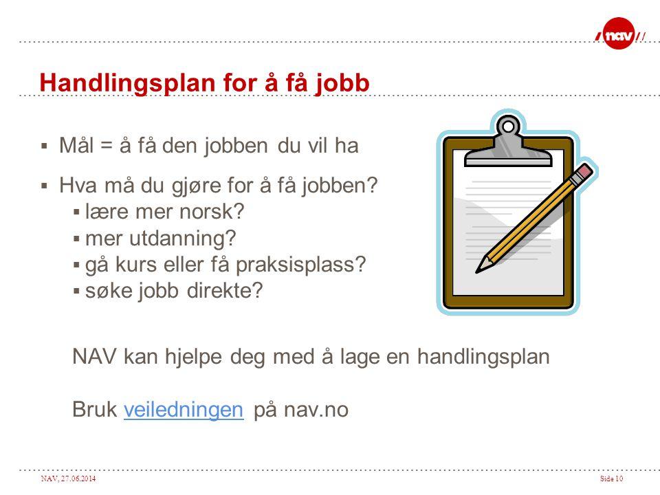Handlingsplan for å få jobb