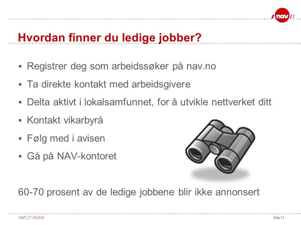Hvordan finner du ledige jobber