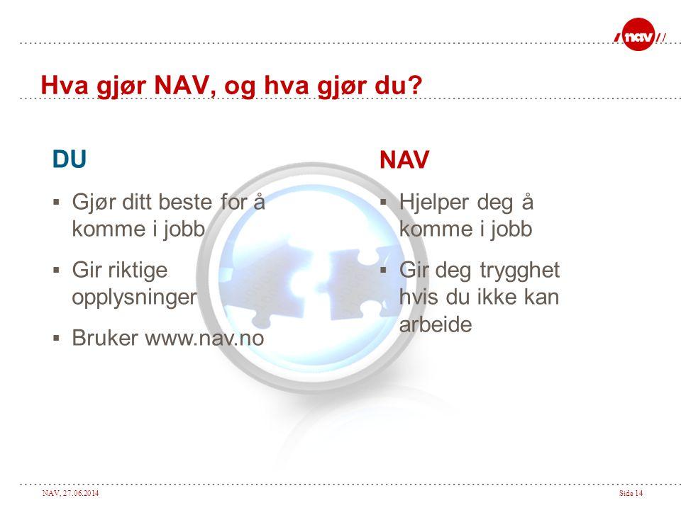 Hva gjør NAV, og hva gjør du