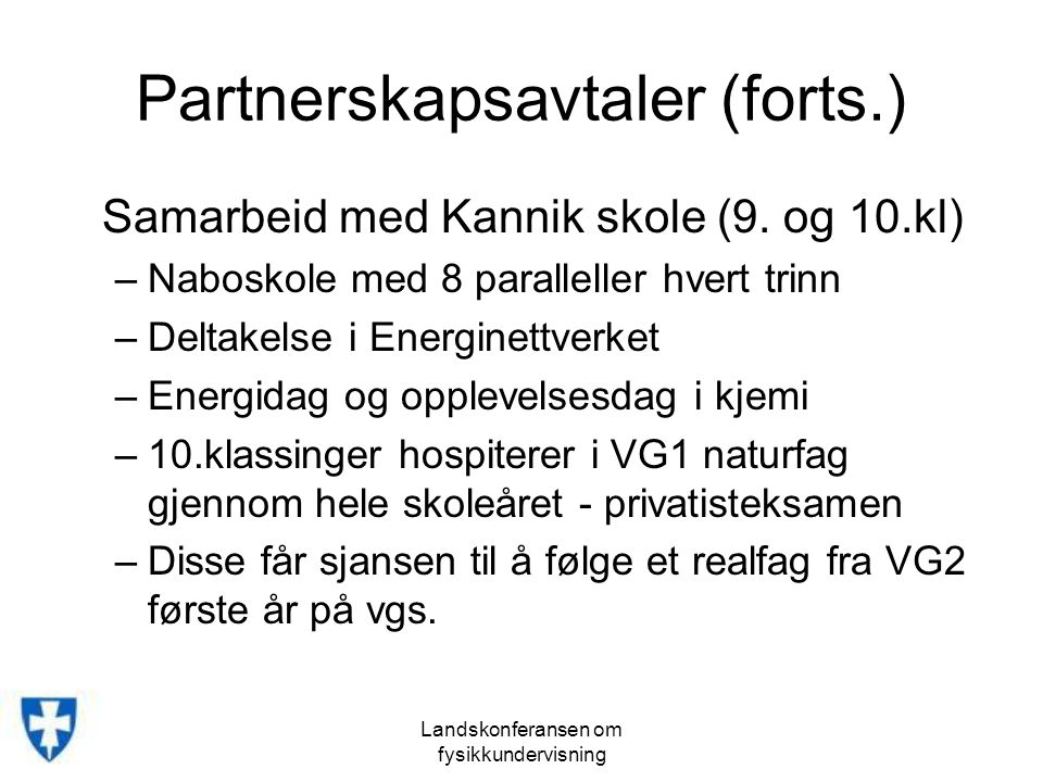 Partnerskapsavtaler (forts.)