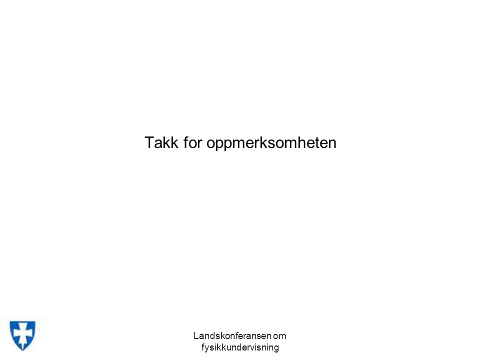 Takk for oppmerksomheten