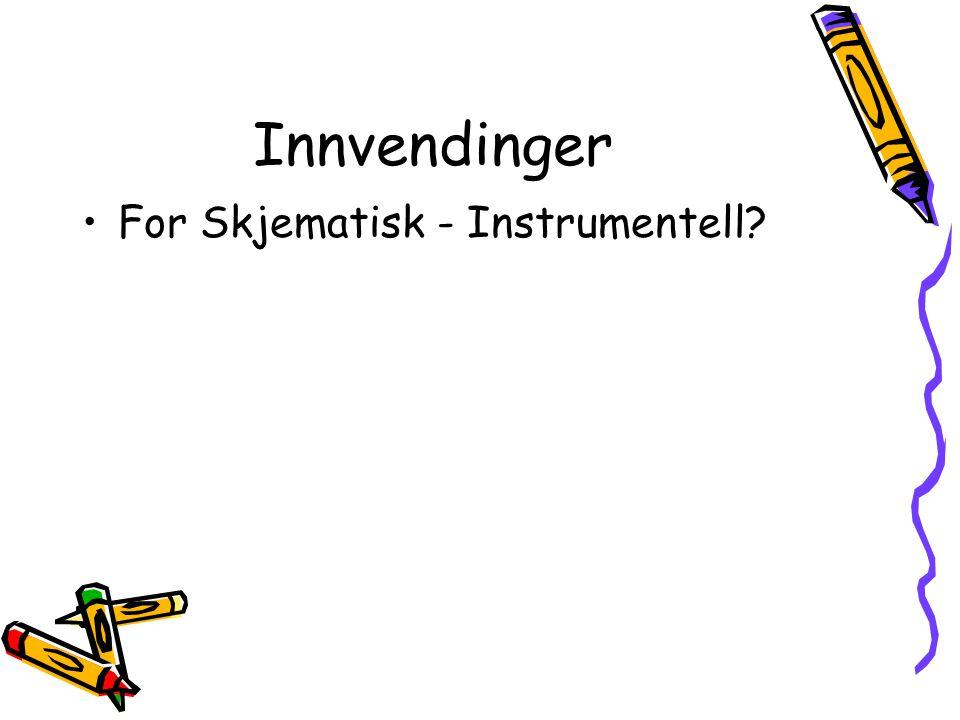 Innvendinger For Skjematisk - Instrumentell