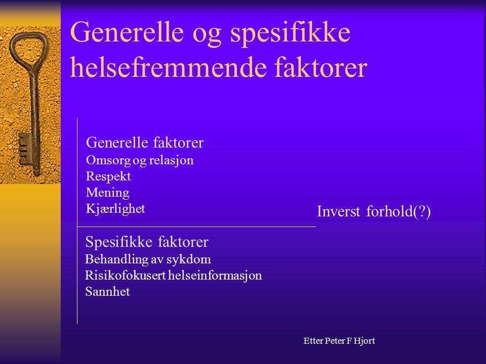 Generelle og spesifikke helsefremmende faktorer