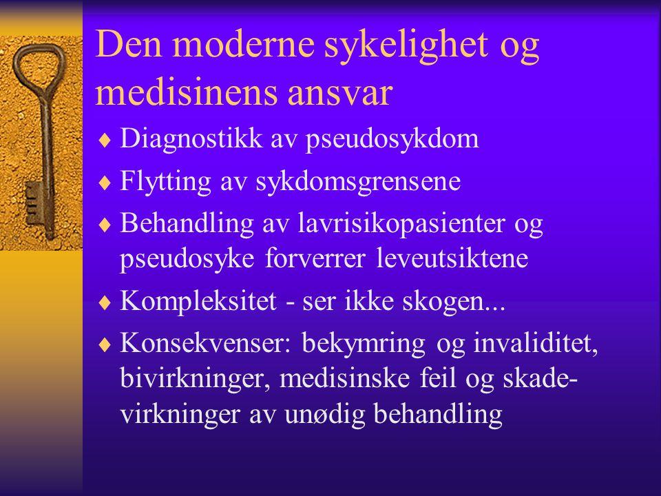 Den moderne sykelighet og medisinens ansvar
