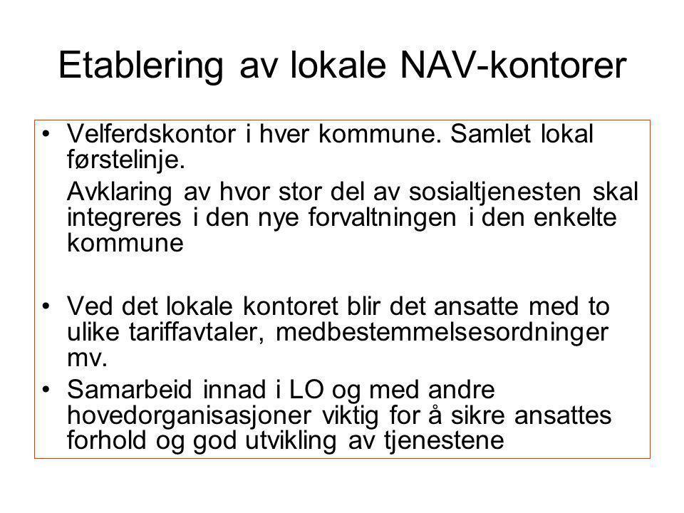 Etablering av lokale NAV-kontorer