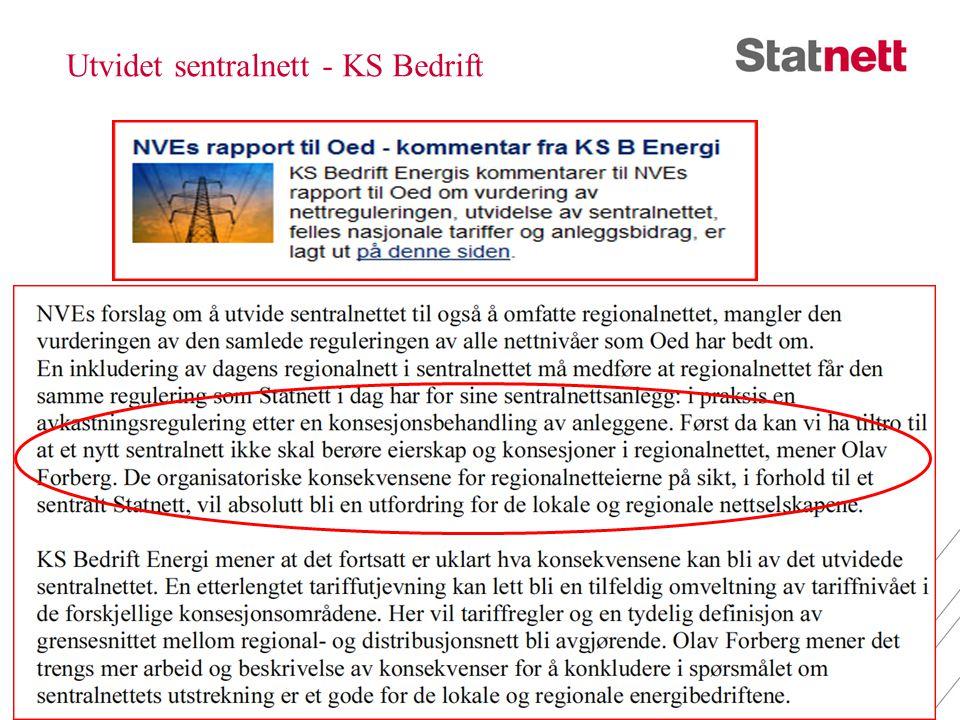 Utvidet sentralnett - KS Bedrift