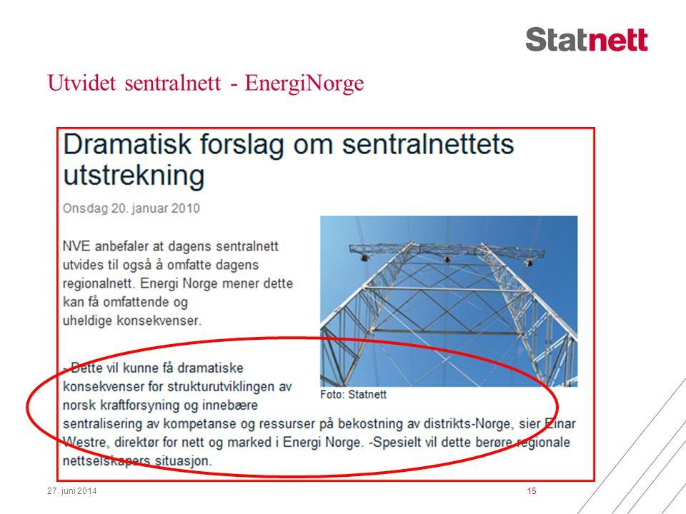 Utvidet sentralnett - EnergiNorge