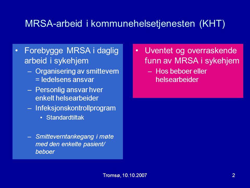 MRSA-arbeid i kommunehelsetjenesten (KHT)