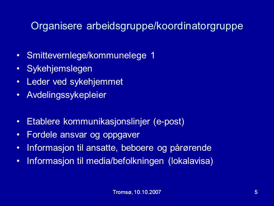 Organisere arbeidsgruppe/koordinatorgruppe
