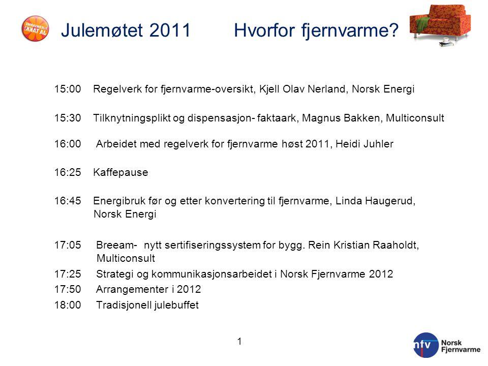 Julemøtet 2011 Hvorfor fjernvarme