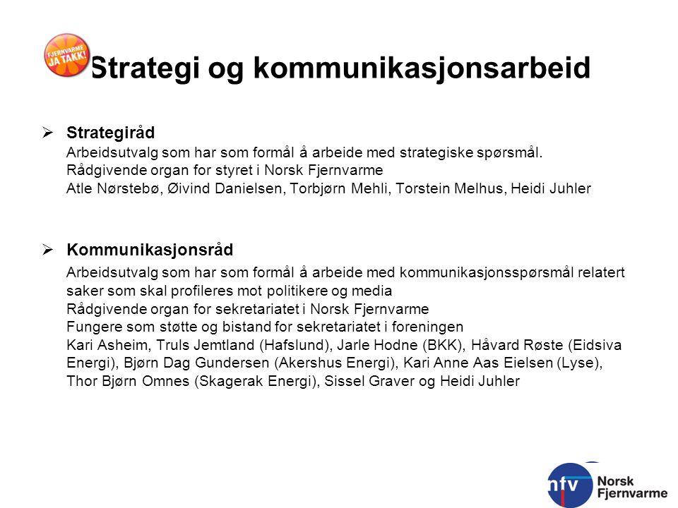 Strategi og kommunikasjonsarbeid