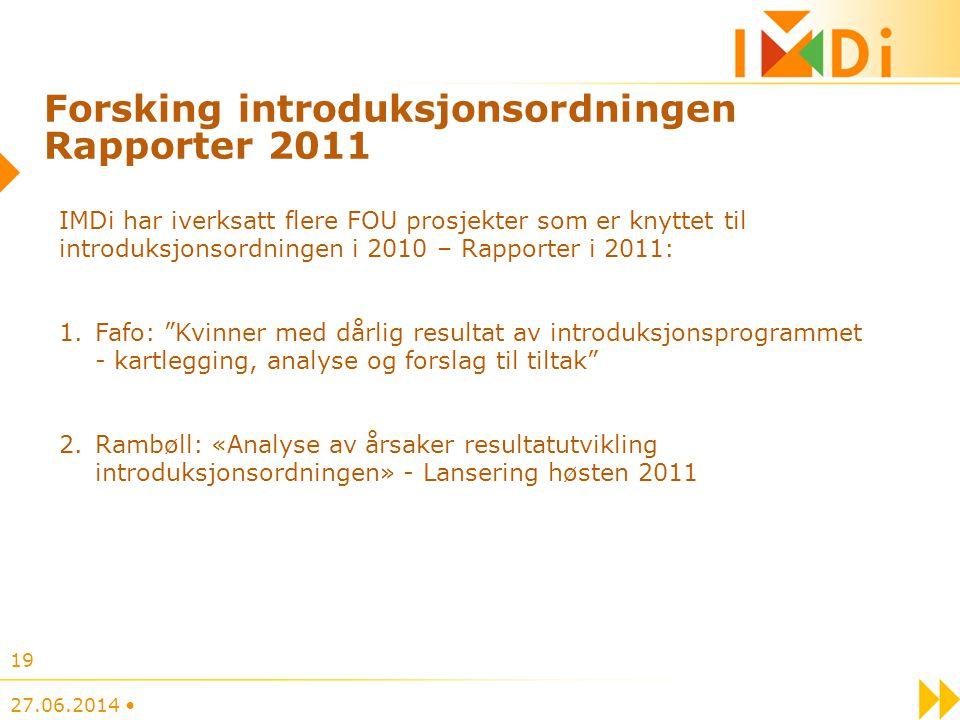 Forsking introduksjonsordningen Rapporter 2011