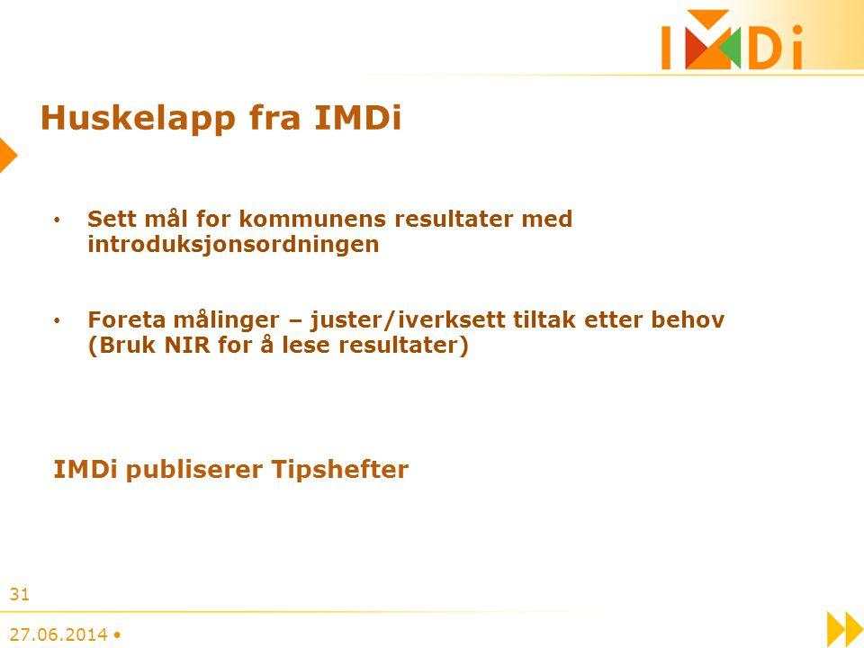 Huskelapp fra IMDi IMDi publiserer Tipshefter