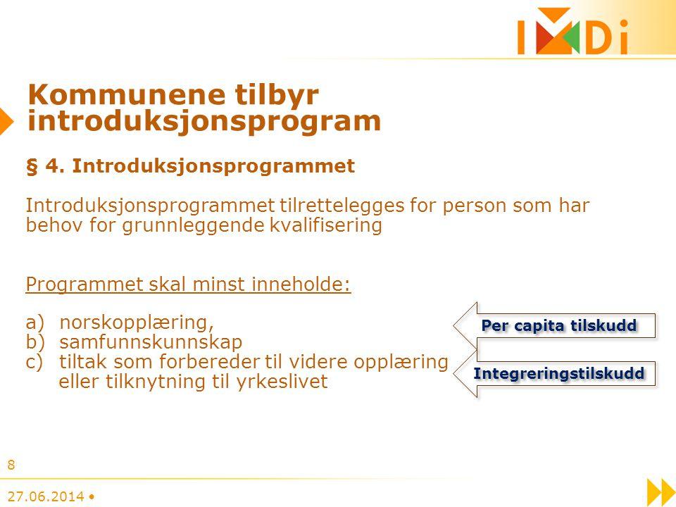 Kommunene tilbyr introduksjonsprogram