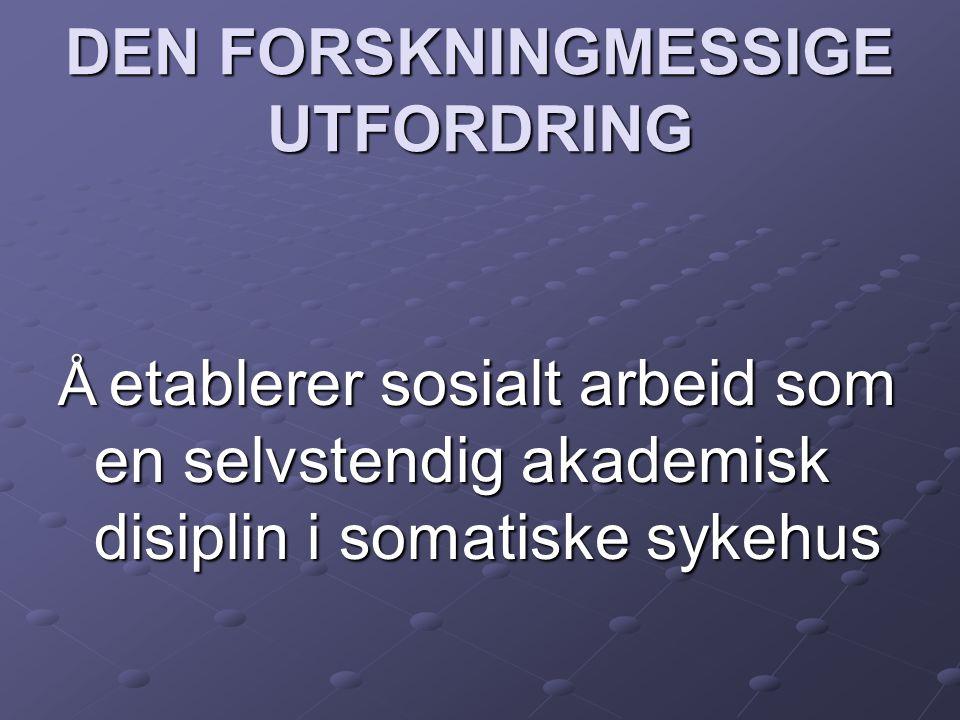 DEN FORSKNINGMESSIGE UTFORDRING