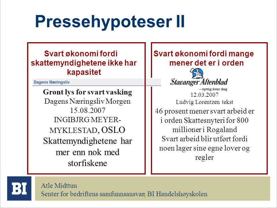 Pressehypoteser II Skattemyndighetene har mer enn nok med storfiskene