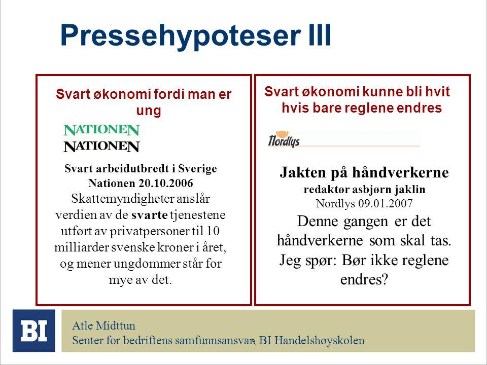 Pressehypoteser III Jakten på håndverkerne redaktør asbjørn jaklin