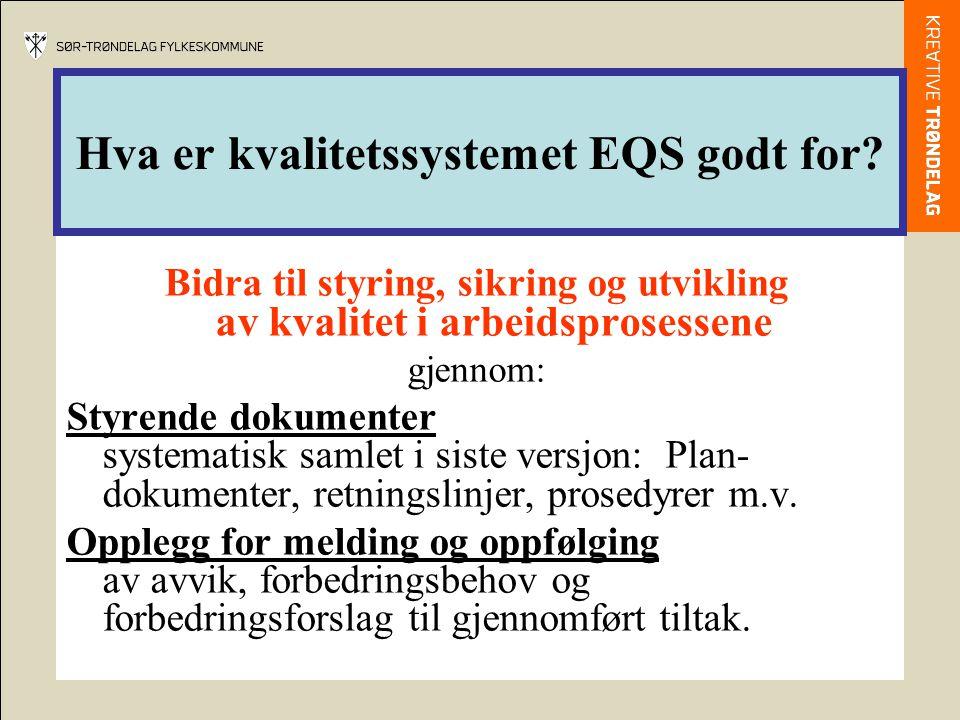 Hva er kvalitetssystemet EQS godt for