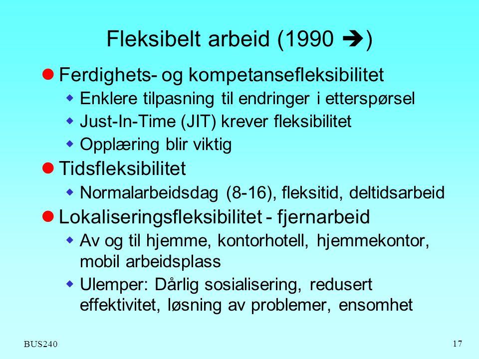 Fleksibelt arbeid (1990 ) Ferdighets- og kompetansefleksibilitet