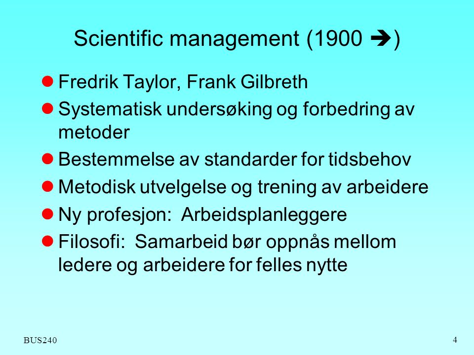 Scientific management (1900 )
