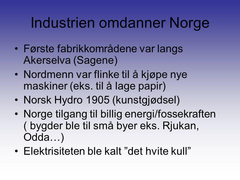 Industrien omdanner Norge
