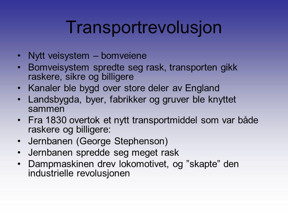Transportrevolusjon Nytt veisystem – bomveiene