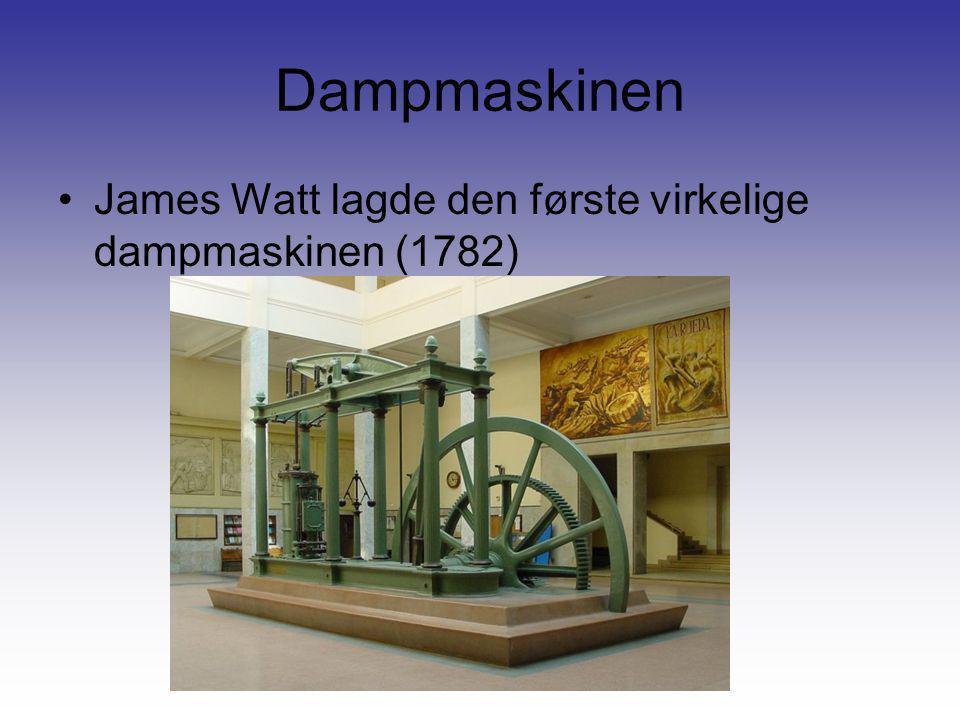Dampmaskinen James Watt lagde den første virkelige dampmaskinen (1782)