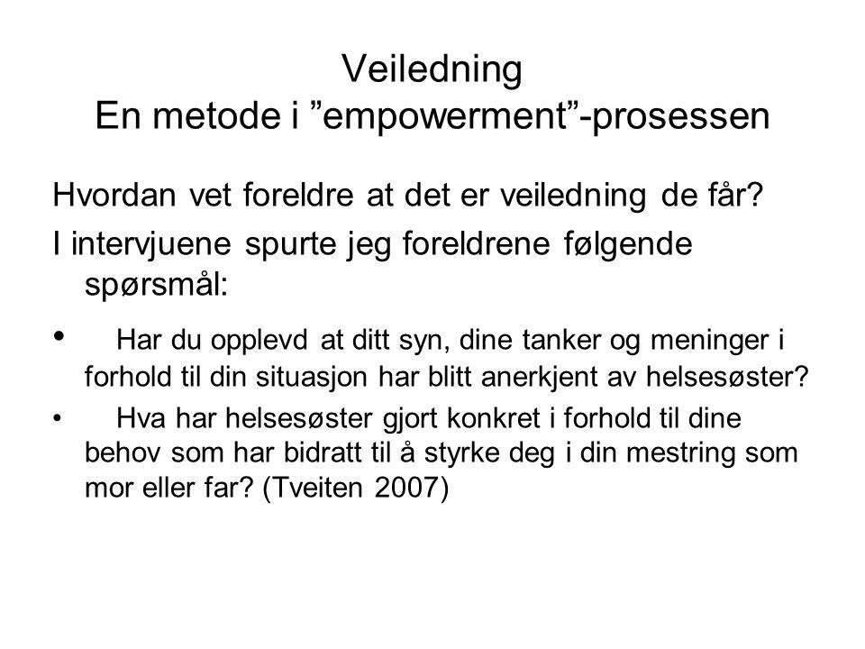 Veiledning En metode i empowerment -prosessen