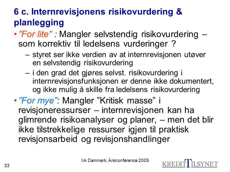 6 c. Internrevisjonens risikovurdering & planlegging