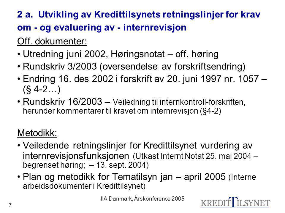 IIA Danmark, Årskonference 2005