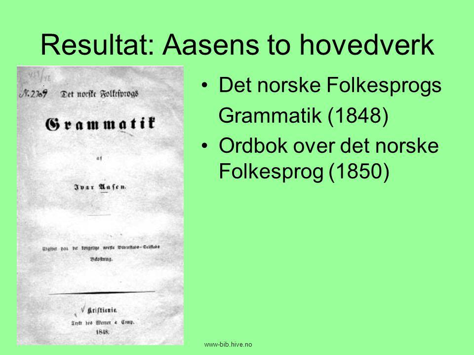 Resultat: Aasens to hovedverk