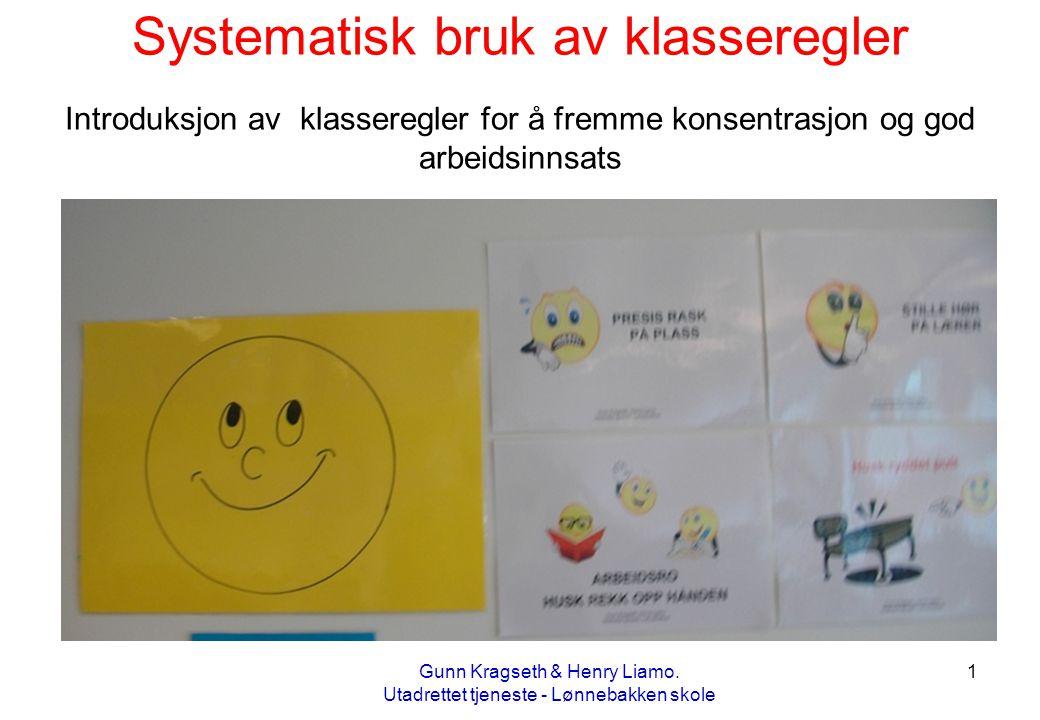 Systematisk bruk av klasseregler Introduksjon av klasseregler for å fremme konsentrasjon og god arbeidsinnsats