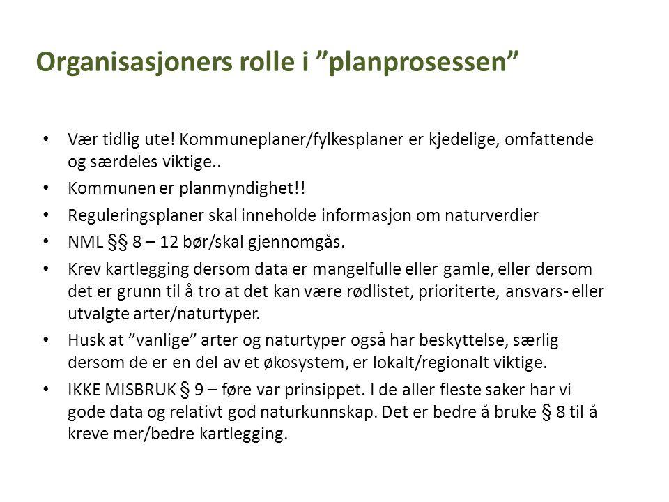 Organisasjoners rolle i planprosessen