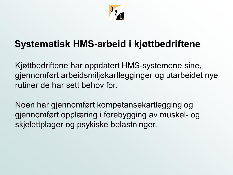 Systematisk HMS-arbeid i kjøttbedriftene